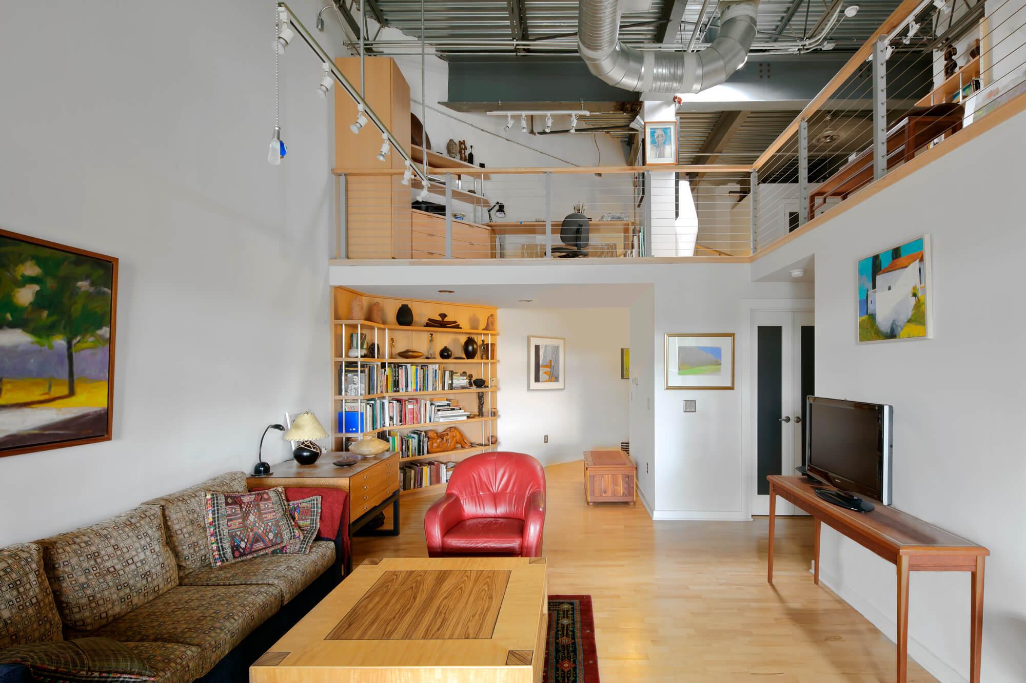Zurbuch Construction - Neville Loft Living Area