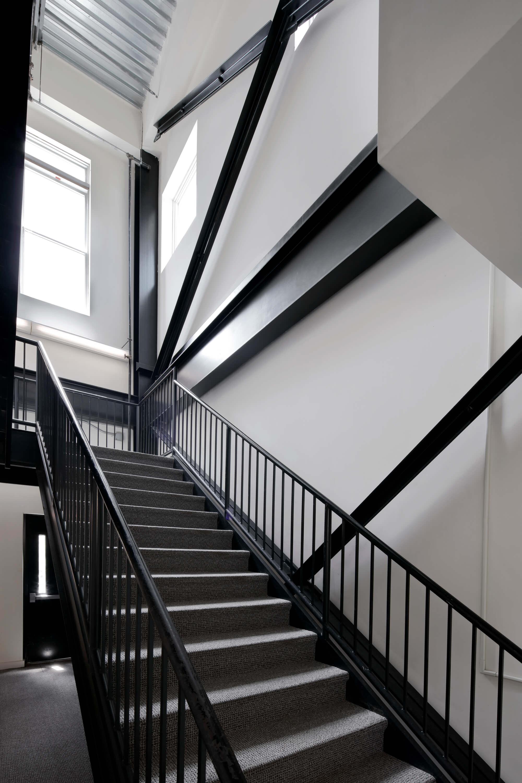 Zurbuch Construction - Neville Loft Black Staircase